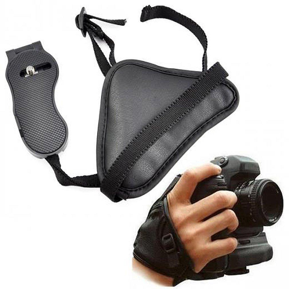 SODIAL(R) Correa de Cuero de Muneca para Camara SLR Canon Sony Olympus Nikon DSLR 010018