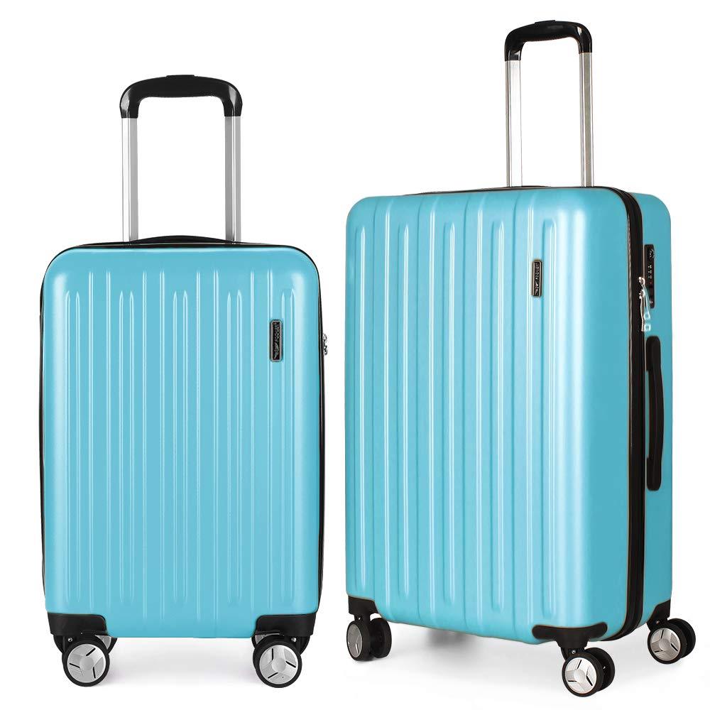 Fochier Luggage 2 piece Set Lightweight Spinner Suitcase with TSA Lock 20''26''