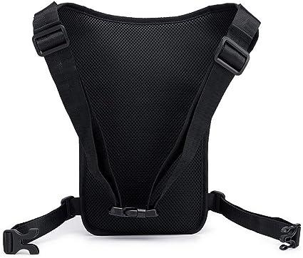 qingqingR Hombres Nylon Motocicleta Cintur/ón de Cadera Cintura Ri/ñonera Equitaci/ón Viajes Hombro Mensajero Crossbody Bolsas Muslo Drop Leg Bag