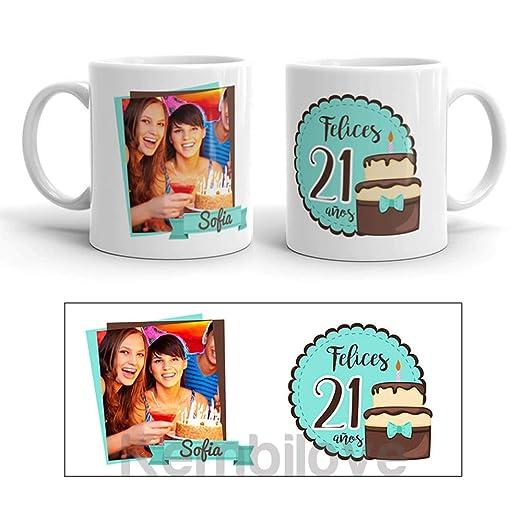 Kembilove Taza de Café Cumpleaños – Taza de Desayuno con Foto Personalizada Cumpleaños – Taza de Café y Té para Amigos – Taza de Cerámica Impresa – ...