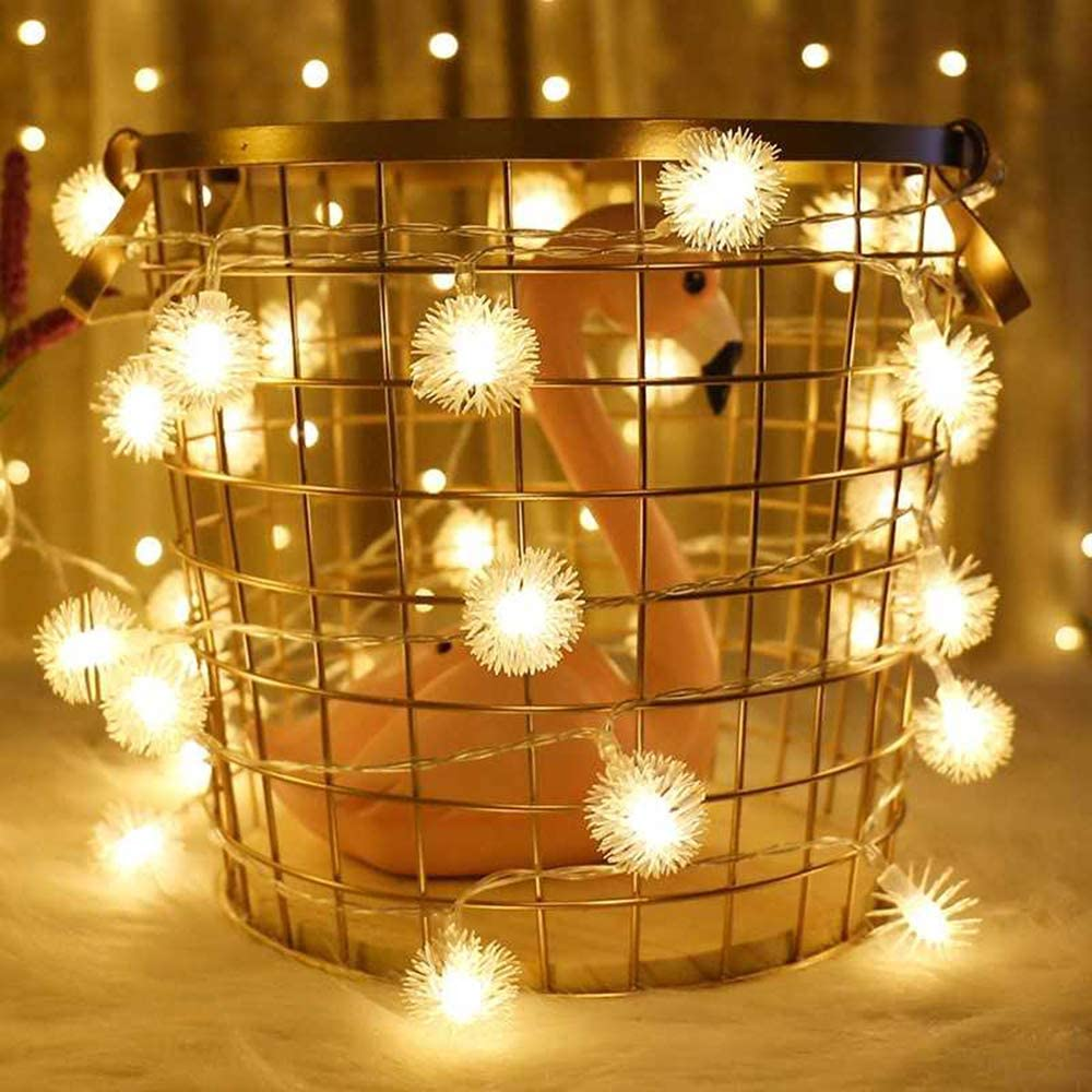 Shaboo Prints Fairy LED String Lights 13.1ft/4m with 40 Lights 2-Mode[Always on/Flicker] Decoration LED Lights for Christmas Party Thanksgiving Bedroom Indoor Wall Decor Garden Patio (Warm White)
