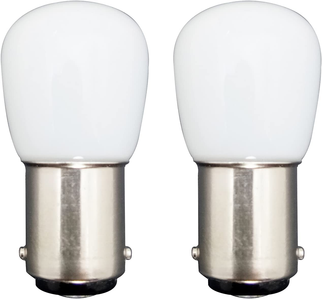MZMing [2 Pack] Bombilla LED B15 1.5W en lugar de 15W 2700K lámpara halógena blanca 120lm Temperatura baja no ajustable para refrigerador / máquina de coser
