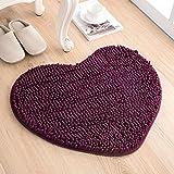 Love the door mat mat in the foyer bathroom and kitchen Ottomans bedroom carpet -50*60cm Deep Purple