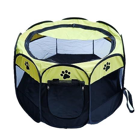 LONGWEY Jaula plegable portátil para mascotas de Oxford para perro ...