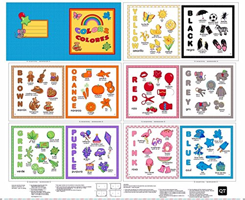Sew & Go Colors Book Panel 36'' x 44'' Cotton Fabric by Quilting Treasures by Quilting Treasures