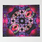 Society6 Dance in pink and purple, abstract pattern design Throw Blankets 88'' x 104'' Blanket
