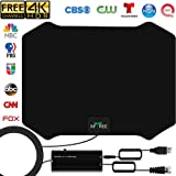 [Newest 2020] TV Antenna, Amplified HD Indoor Digital TV Antenna 200 Miles Long Range Signal Booster Support All 4K VHF UHF 1080p Indoor HDTV Television for Free Local Channels, 17ft Coax Cable