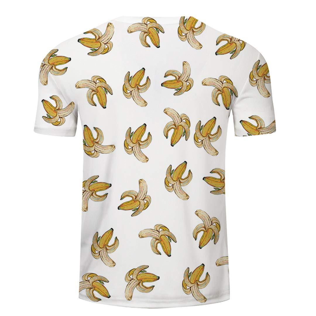 Banana Tshirt Men Women T Shirt 3D T-Shirt Anime Tee Print Top Short Sleeve TXKH1104 Asian S