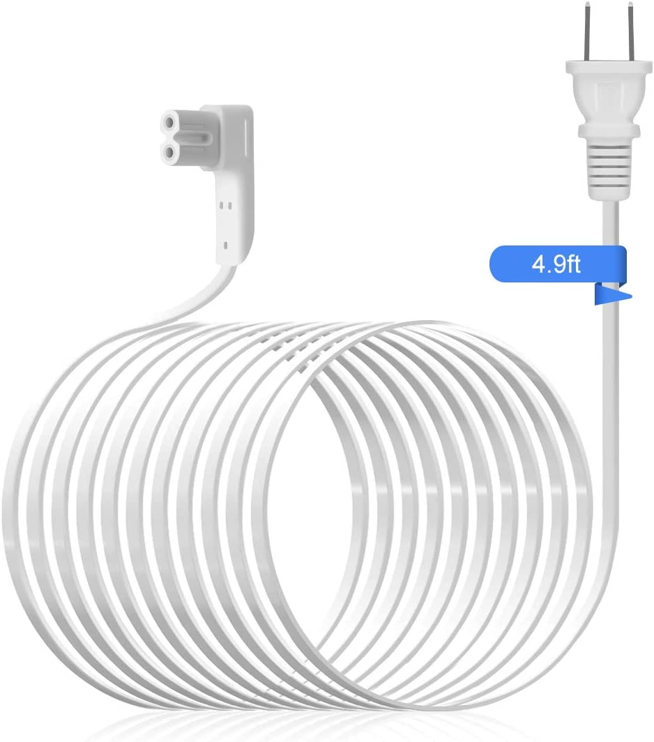 1.15ft//0.35m Lenink Power Cable Replacement Cord Compatible with Sonos Play 1 and One Speaker Accessories