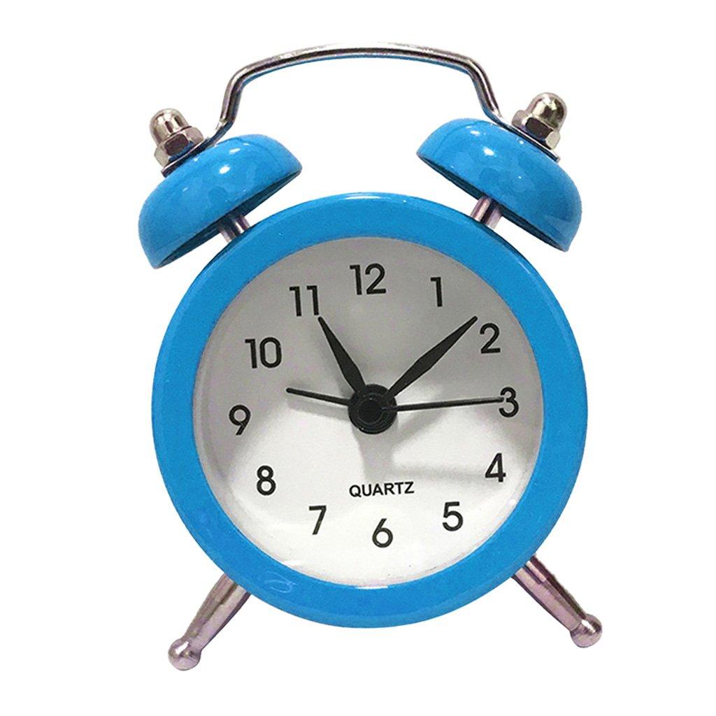 Homyl R/éveil Horloge Double Bell Chevet En M/étal Mouvement /à Quartz Noir
