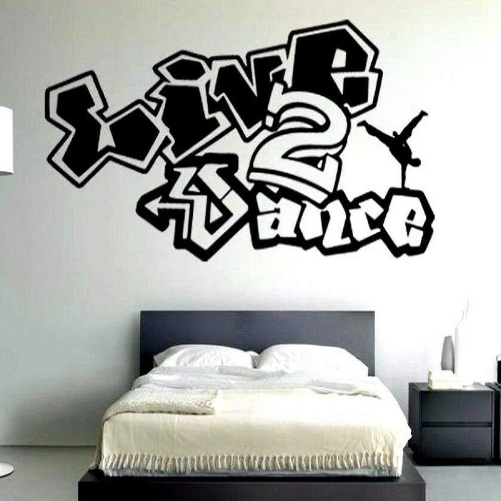 Baile de vinilo Arte de la pared Apliques Graffiti Hip Hop ...