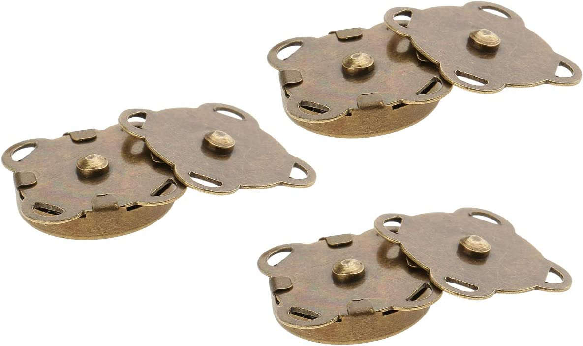 Crafts Jacket Handbag Making Purses Leather Coat 14mm, Bronze, 2pcs Trimming Shop Magnetic Snap Fasteners Metal Clasps Sewing Accessory for DIY Clothing