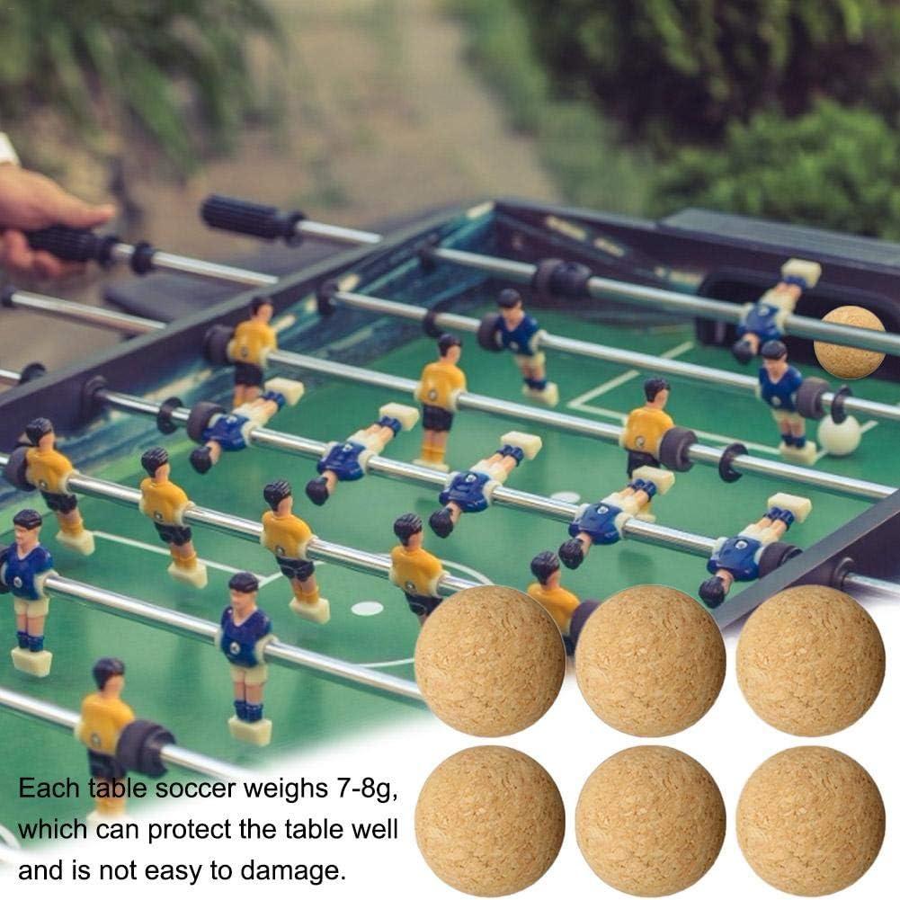 Futbolín de Recambio, Corcho Natural, diámetro: 36MM, Bola de Kicker, Bolas para futbolines, Naturales, Muy silenciosas, 1PCS/6PCS/12PCS: Amazon.es: Deportes y aire libre