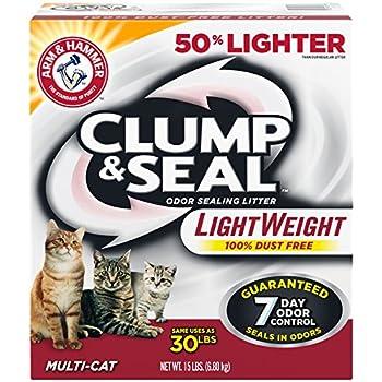Arm & Hammer Clump & Seal Lightweight Litter, Multi-Cat, 15 Lbs