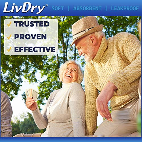 LivDry Incontinence Pad Insert for Men and Women | Extra Absorbency with Odor Control (Powerful 600 (30 Count))