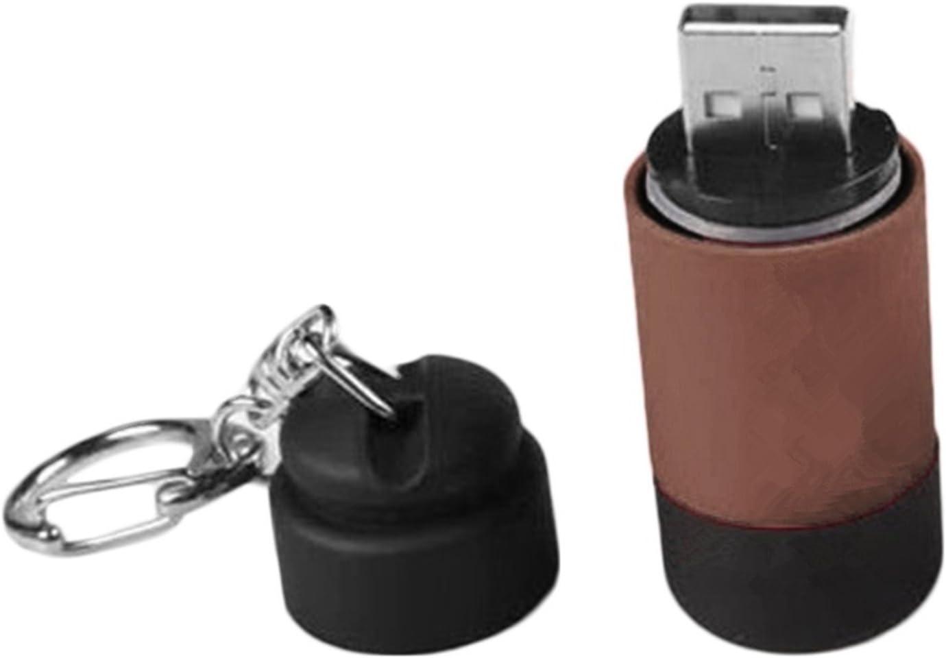 25LM CAOLATOR LED USB Cl/é Lampe Torche,Keychain Mini USB Flashlight,Poche Portable Porte-cl/é Rechargeable Etanche