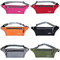 WISTOM Multifunction Running Cellphone Pocket Waterproof Bum Bag Hiking Waist Fanny Pack with Adjustable Belt for Men Women
