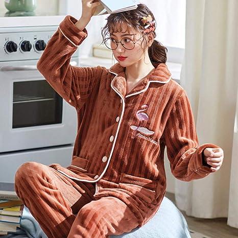 Handaxian El Pijama de Invierno para Mujer más la Franela ...