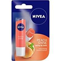 Nivea Peach Shine Lip Balm, 4.8g