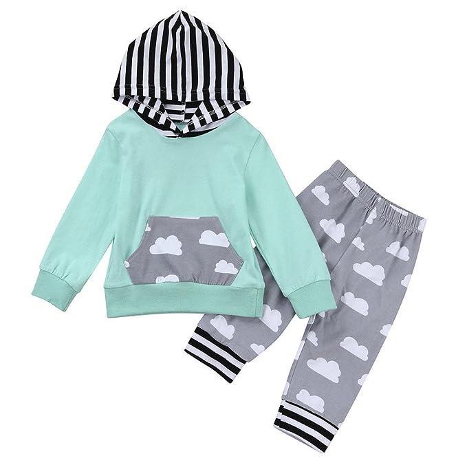 colores armoniosos calidad confiable comparar el precio YanHoo Conjunto de Ropa para niños Ropa Linda 2pcs niño ...
