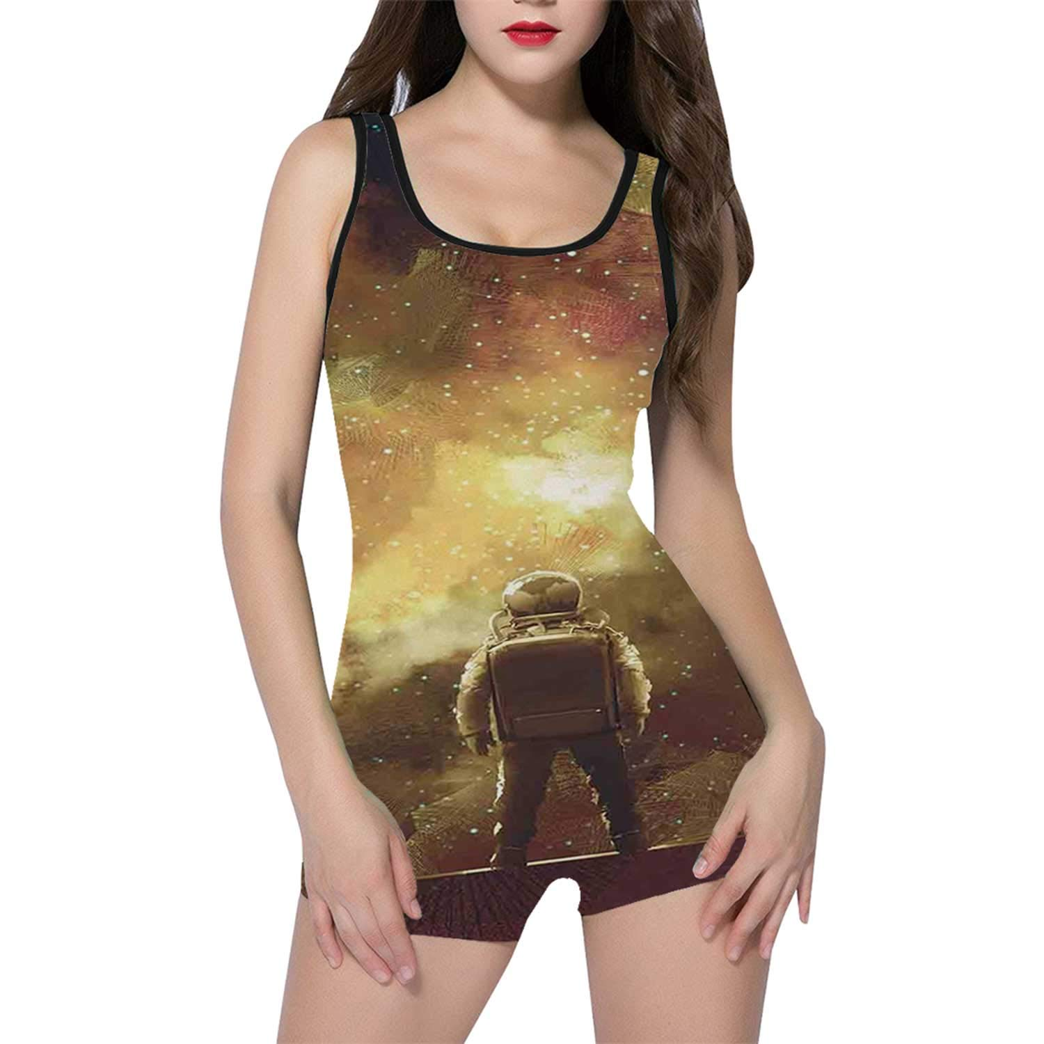 Fantasy Art House Decor Comfortable One Piece Swimwear,for Travle,XL by Hitecera