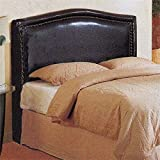 4D Concepts Headboard with Rounded Top, Brown