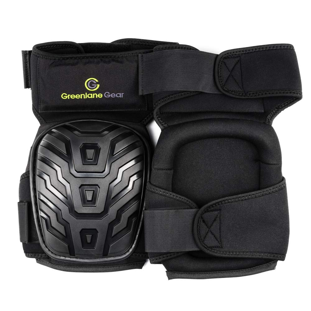 Gel Knee Pads for work designed to prevent slipping/sliding for gardening, construction, floor, tiling - Industrial grade heavy duty flexible kneepad- soft kneepads fits all (small-large) men/women by Greenlane Gear (Image #2)