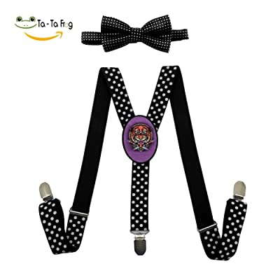 Knives and tigers Y-Back Suspenders And Pre-Tied Bowtie Set For Boys And Girls Casual And Formal