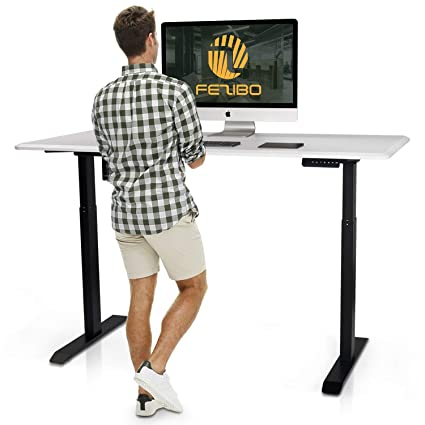 Amazon Com Electric Stand Up Desk Frame Fezibo Single Motor With