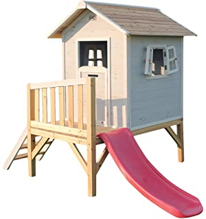 EXIT Beach 300 Wooden Playhouse - Grey Casa de Juegos Sobre pilares - Casas de Juguete (Casa…