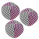 Speevers Xball Juggling/Joggling Balls Professional Set of 3. Fresh Design - 2 Layers of Net. PVC Carry Case. Pick Color, Size, Weight & Density. Choice of The World Champions! (90g White - Pink)