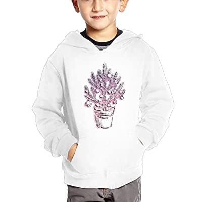 Love Lamp Tree Cartoon Boys' Kids Cute Hooded Pullover Cotton Hoodies With Pocket