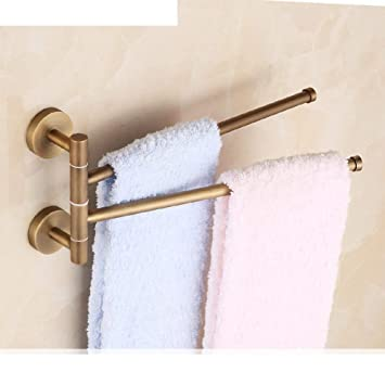 NAERFB Antique baño toallero/All-Cobre/toallero toallero Doble Giratorio/Continental Colgar Toallas Retro-D: Amazon.es: Hogar