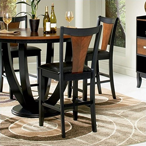 Boyer Two-tone Counter Stools Amber and Black (Set of 2) -