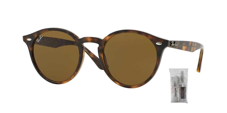 2648c861eb7 Amazon.com  Ray Ban RB2180 601 71 49M Black Grey Green Sunglasses For Men  For Women  Clothing