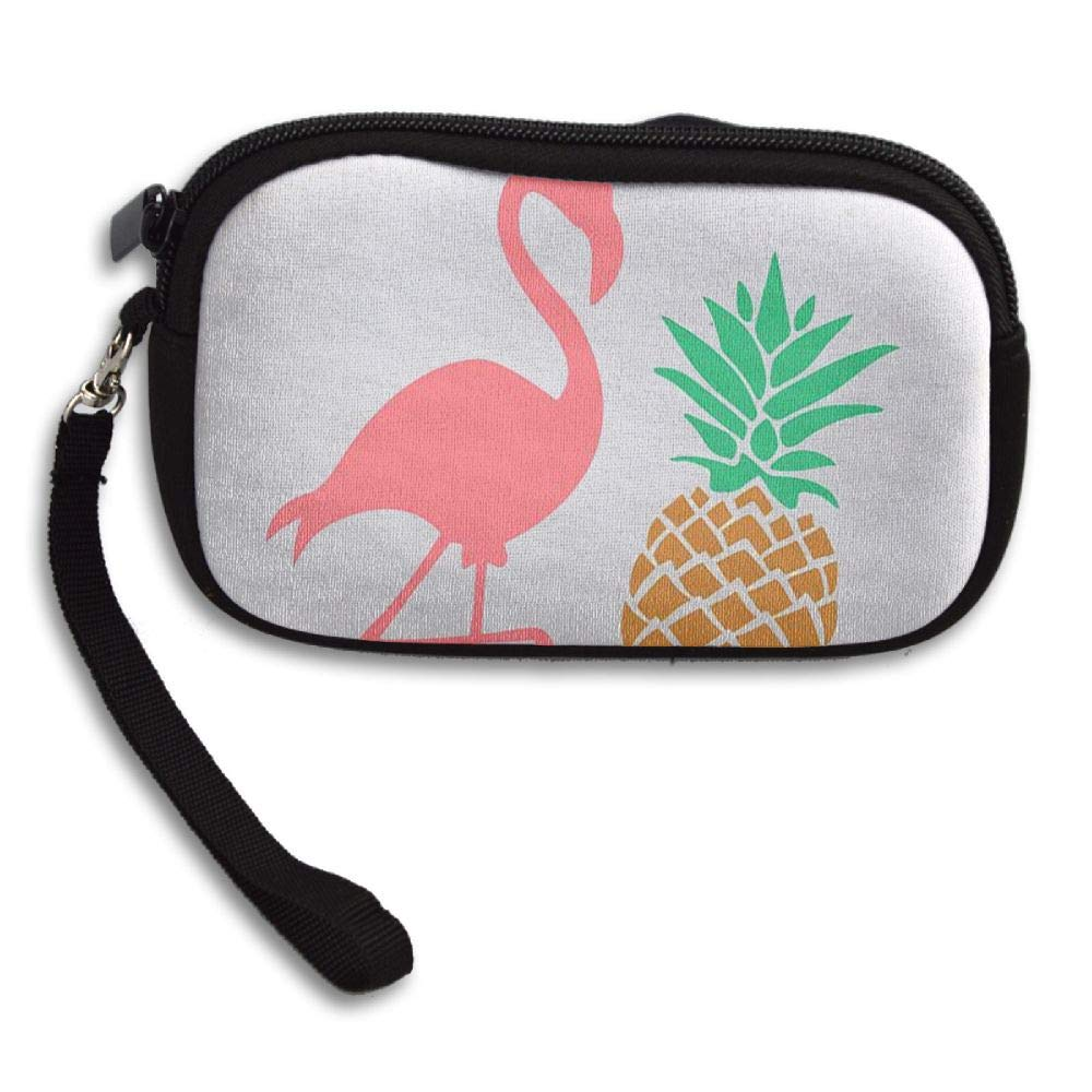 HACVREQ Unisex Personalized Wallet,Flamingos-with-Pineapples Purse Bag Woman Ladies Men Gentlemen by HACVREQ (Image #1)