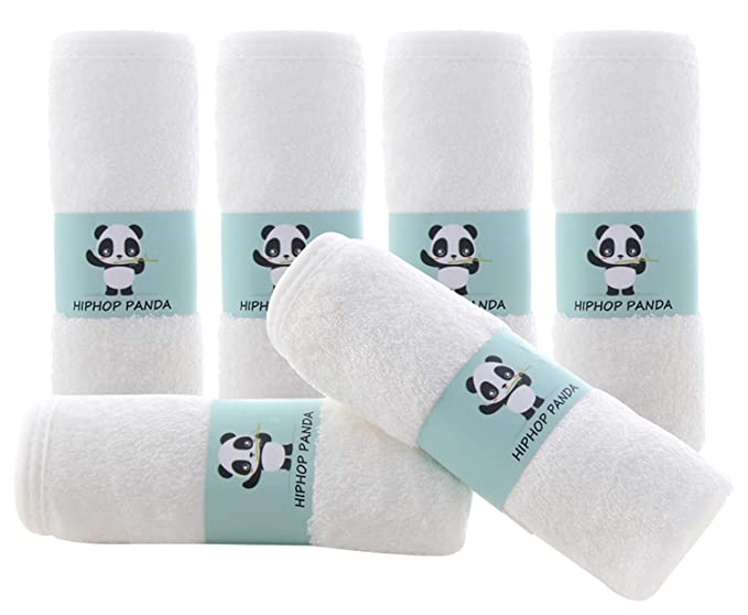 Reusable Baby Wipes Momcozy 8 Pack Baby Towels Baby Registry as Shower 10x10 Ultra Soft Absorbent Newborn Bath Face Towel for Sensitive Skin Bamboo Baby Washcloths