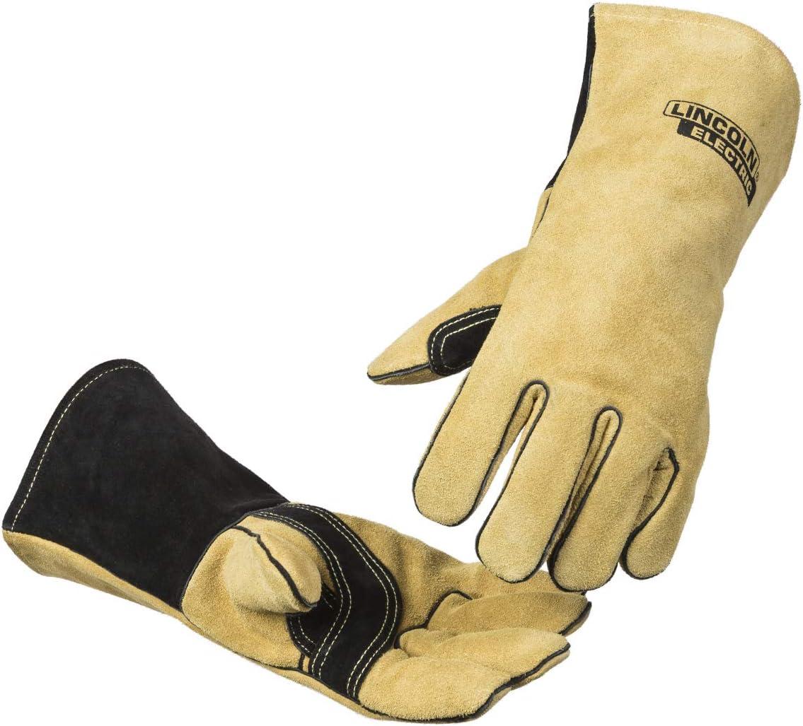 Lincoln Electric Heavy Duty MIG/Stick Welding Gloves | Heat Resistant & Durabilty | Large | K4082-L