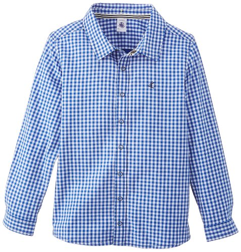 Petit Bateau Little Boys' 'Fluet' Check Shirt (Kids - Blue/White - 5 ()