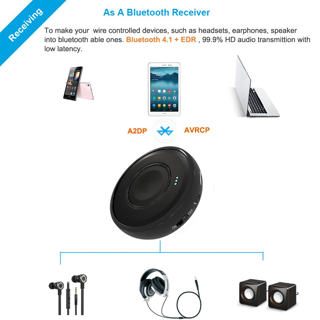 Bluetooth Audio Receiver Wireless Adapter Dongle Wiring Diagram Music Low Latency Long Range 41 With A2dp For Headphone