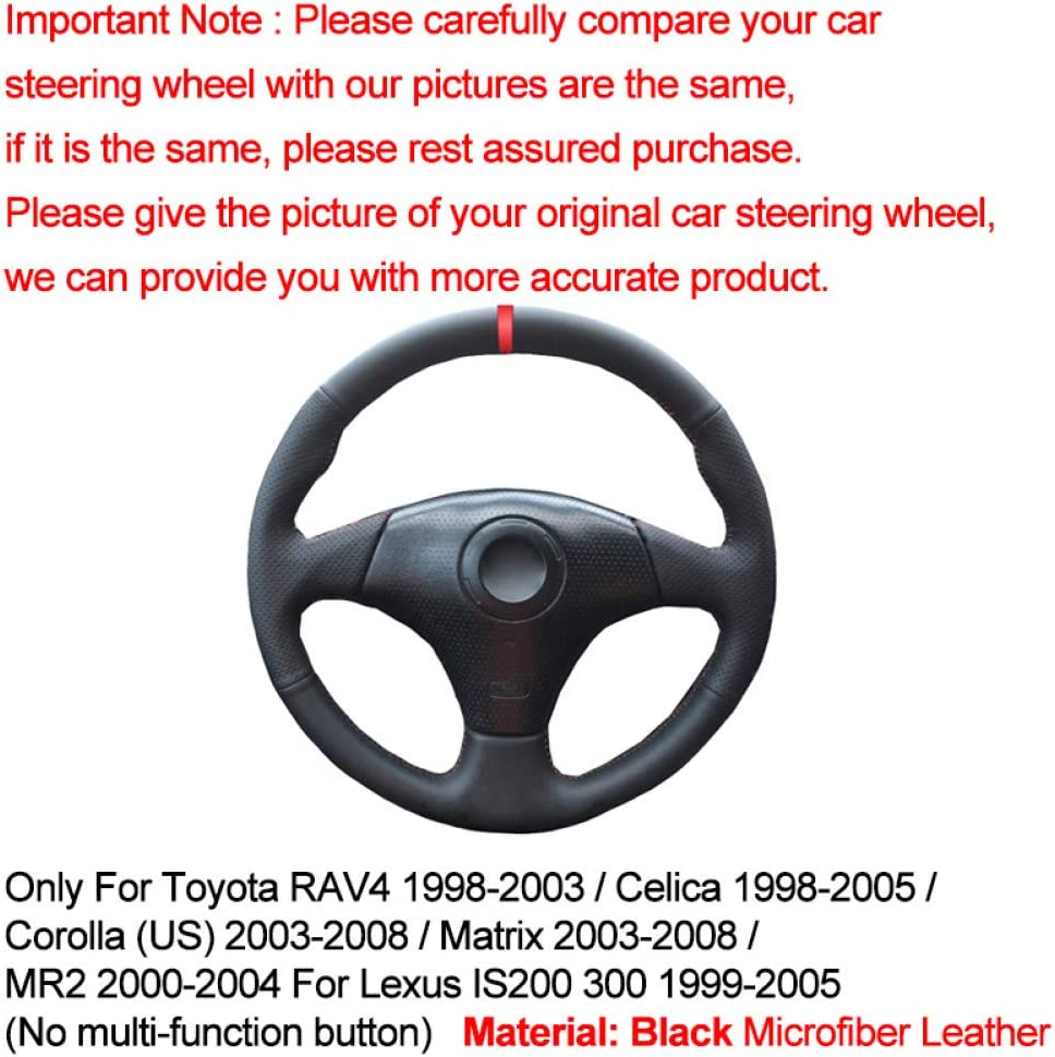 2007 2006 Mano Coser Cubierta del Volante del Coche para Toyota RAV4 1998-2002 de 2003 Celica 1998-2005 Corolla 2003-2005 2008