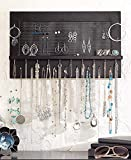 The Lakeside Collection Wall Hanging Jewelry Organizer- Black