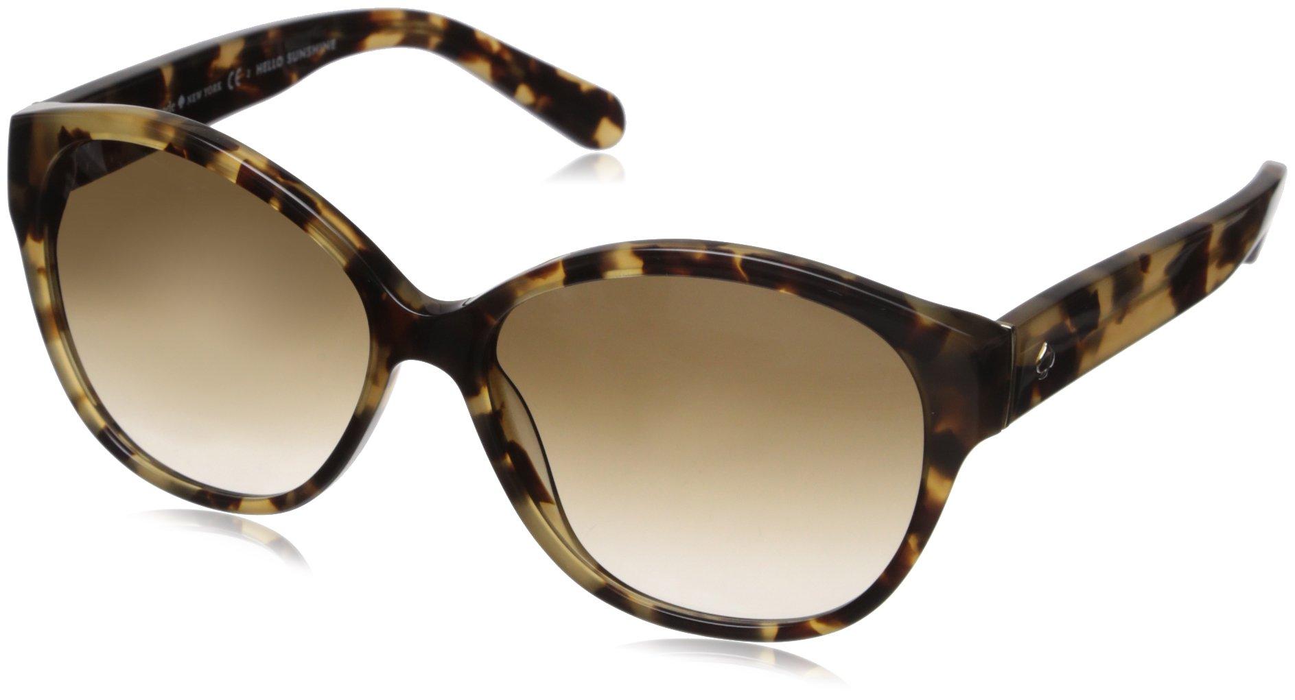 Kate Spade Women's Kiersten 2s Oval Sunglasses, Camel Tortoise, 56 mm by Kate Spade New York