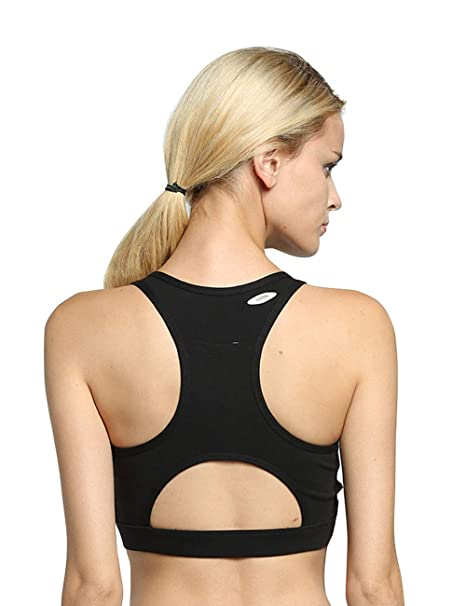 536811551e9ab Image Unavailable. Image not available for. Color  Women Sport Bra Back  Pocket Running Yoga Bras Padded High Impact Workout Racerback Activewear