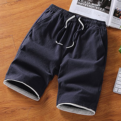 Dark blueee 1018 XL Hai Hai Beach Shorts Summer Shorts Men's Loose Large Pants Beach Pants Casual Sports Pants Summer Thin Beach Pants Pants