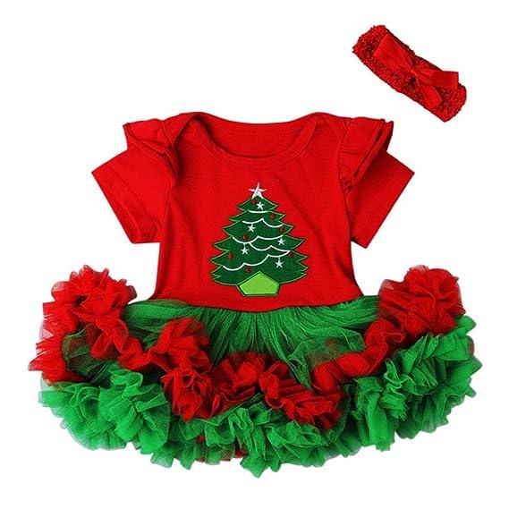 00eeee5a6 RETUROM Vestido de niña de Invierno Navidad, Navidad Vestir 1Set recién  Nacido bebé Encaje Navidad