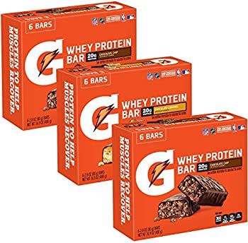 18-Count Gatorade Whey Protein Recover Bars Variety Pack, 2.8 oz
