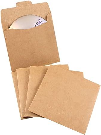 100 Fundas para CD y DVD en papel kraft: Amazon.es: Hogar