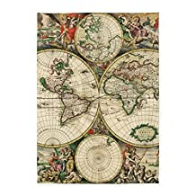 CafePress - Vintage Map - Decorative Area Rug, 5'x7' Throw Rug