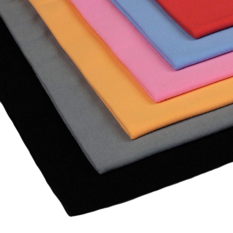 96/% Baumwolle 5/% Elasten insgesamt 1,5 m B/ündchen Neumann Handelsvertrieb 6 x 0,25m B/ündchenstoff Uni Schlauchware 150 cm Basic Farben 2 x 70 cm als Schlauch